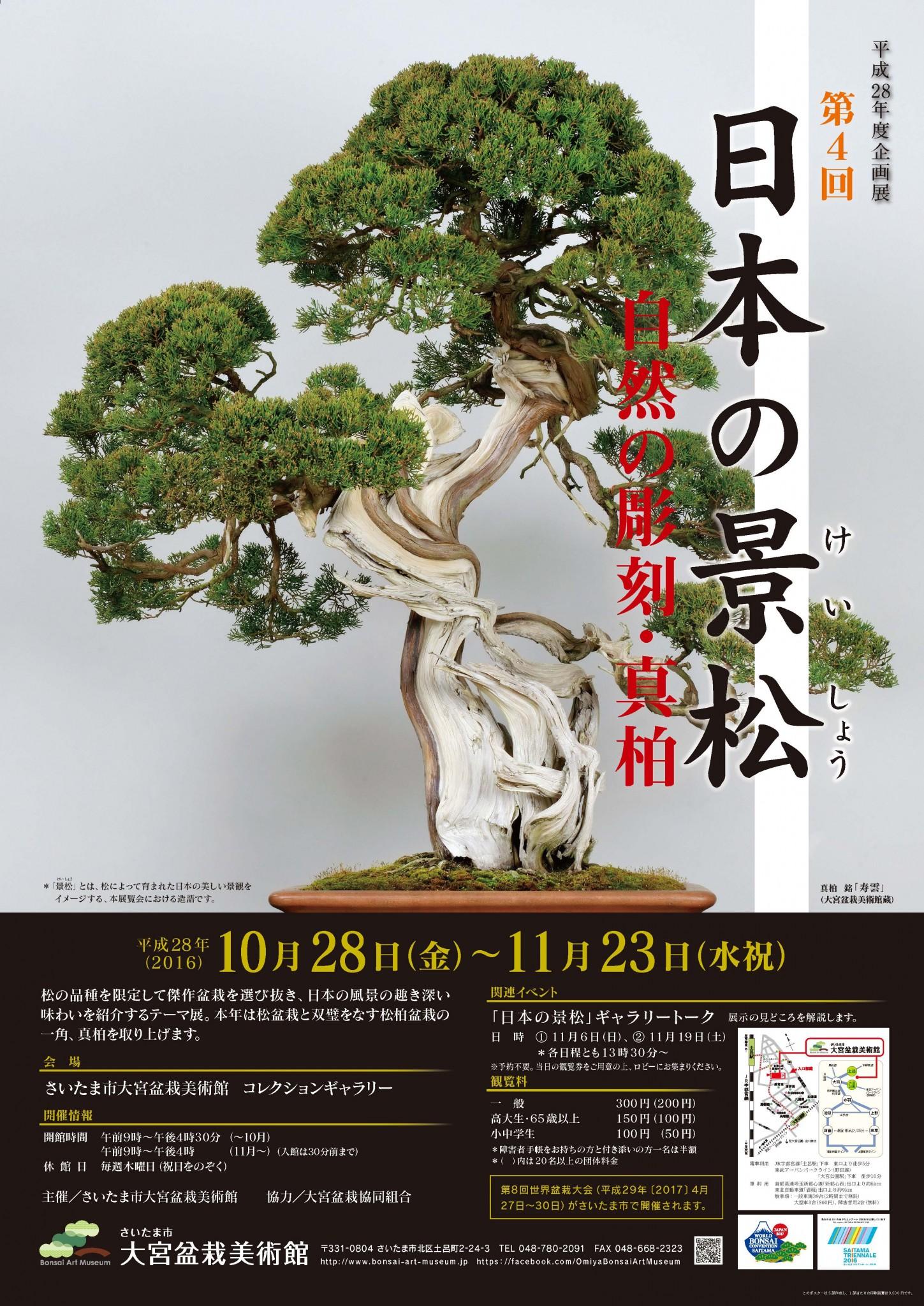 企画展「第4回 日本の景松―自然の彫刻・真柏」