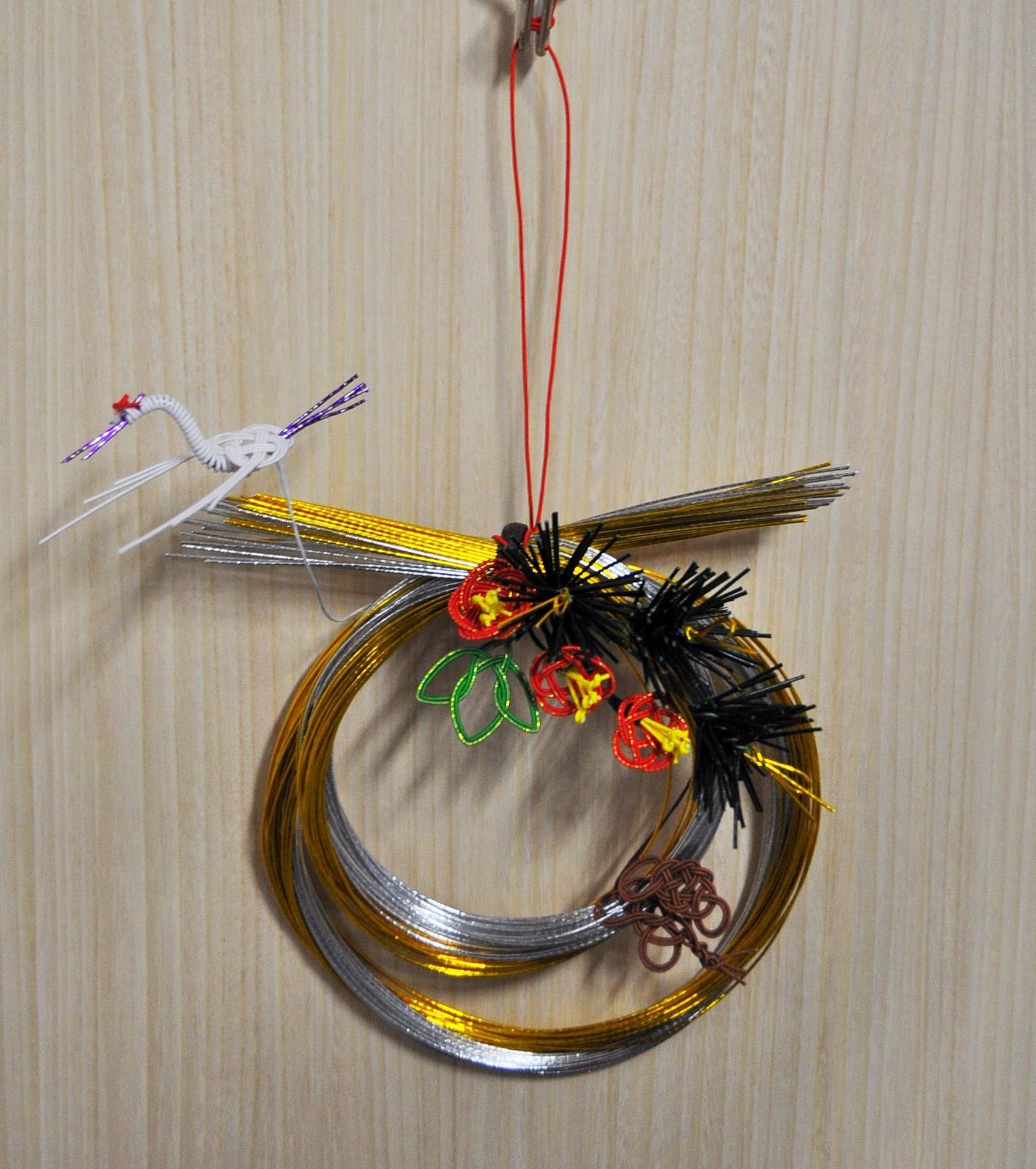 子ども向けワークショップ(12月) 水引細工で正月飾りをつくろう
