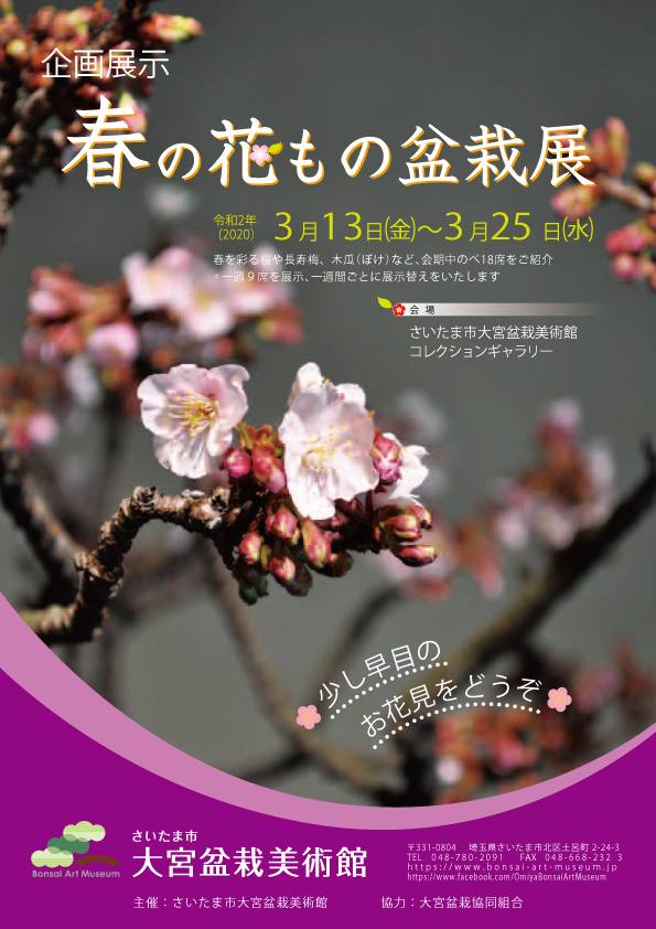 【Cancelled】Flowering Bonsai Exhibition