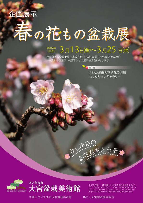 【中止】 企画展「春の花もの盆栽展」